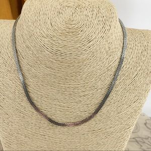 """Fossil 16"""" Silver Necklace Signed"""